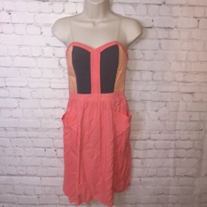 xhilaration color block strapless dress